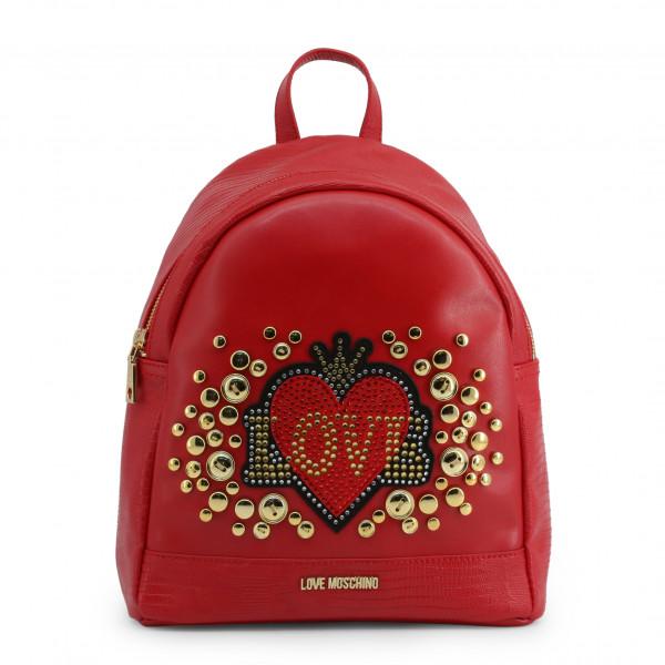 Dámský červený batoh Love Moschino s aplikací