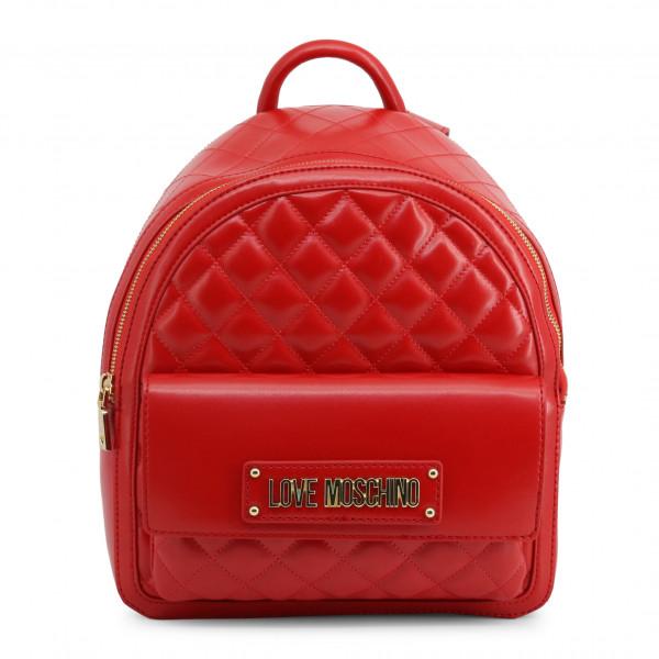 Prošívaný dámský batoh Love Moschino červený