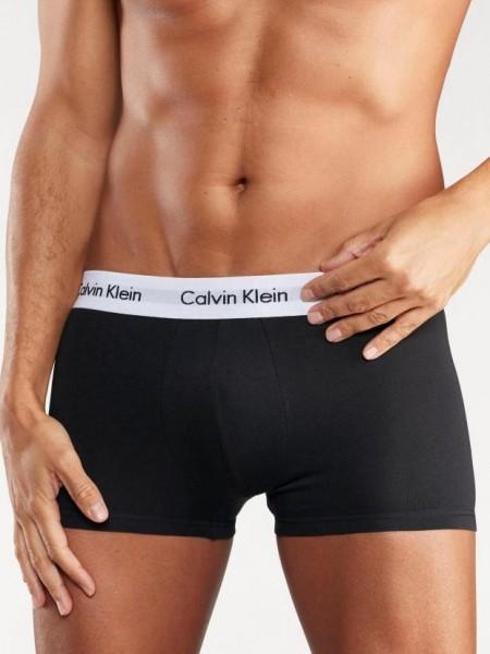 Boxerky Calvin Klein 3 pack - černá, černá, černá