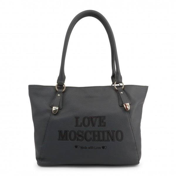 Šedá kabelka Love Moschino velký nápis