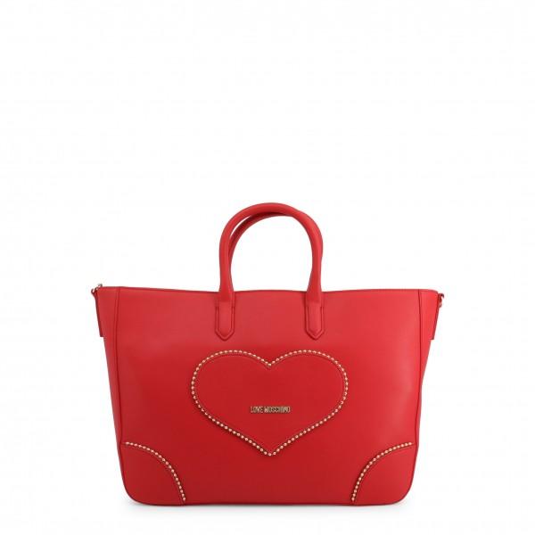 Kabelka Love Moschino červená s aplikací