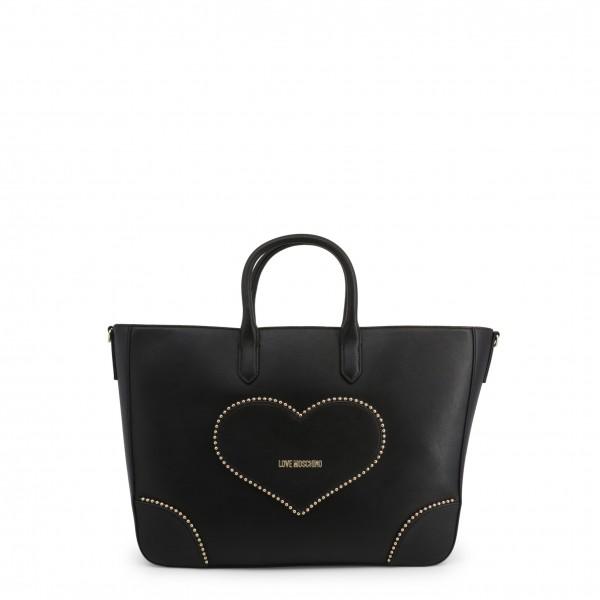 Černá kabelka s aplikací Love Moschino