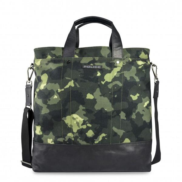 Maskáčová pánská taška Police zelená