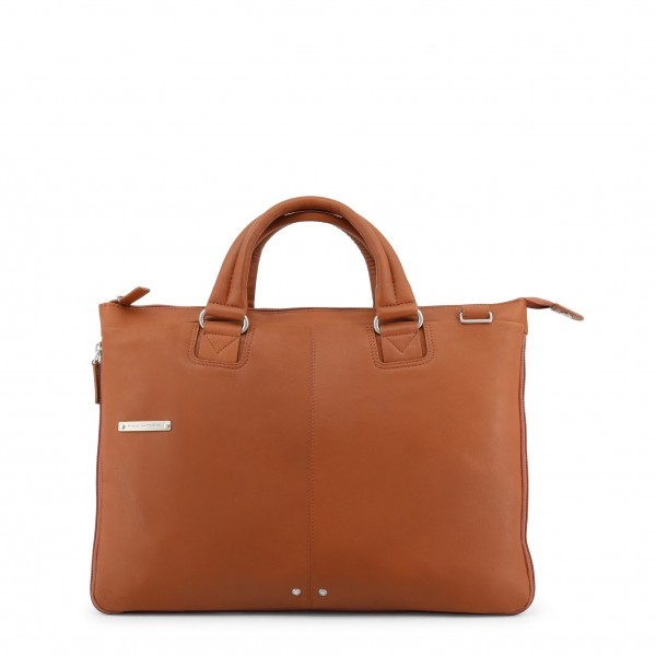 Moderní hnědá pánská taška Piquadro