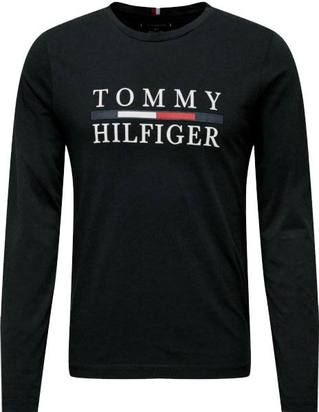Pánské tričko Tommy Hilfiger s dlouhým rukávem černá