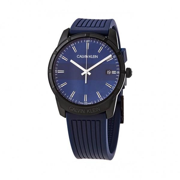 Modré pánské hodinky Calvin Klein