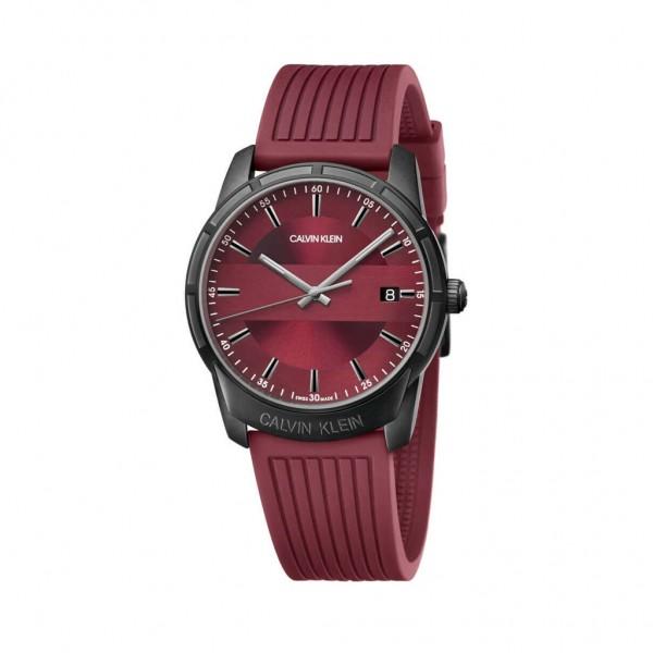 Calvin Klein pánské červené hodinky