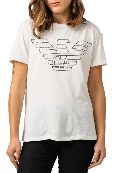 Dámské tričko Emporio Armani bílé s velkým logem