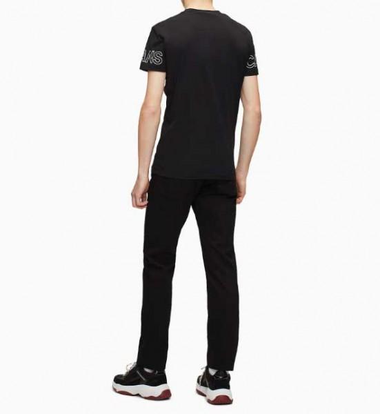 Pánské tričko Calvin Klein Jeans černé monogram