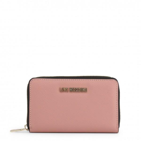 Stylová růžová dámská peněženka Love Moschino
