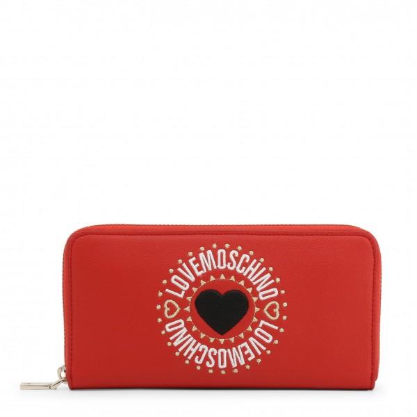 Peněženka Love Moschino s logem červená