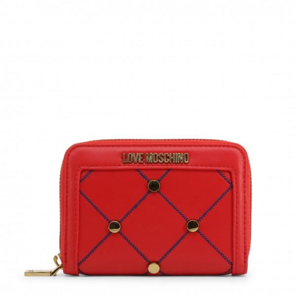 Červená Love Moschino moderní peněženka