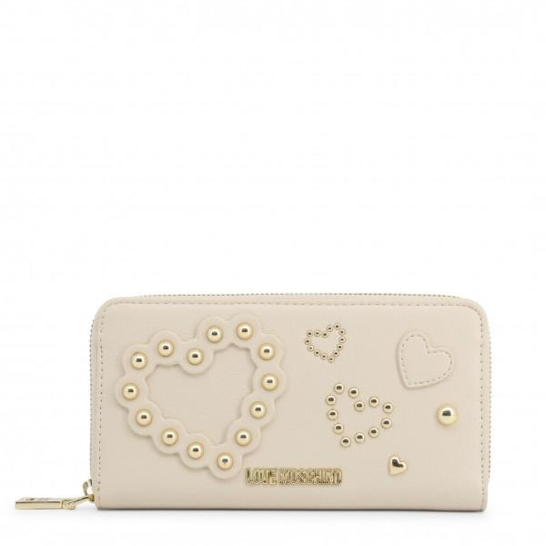 Bílá peněženka s aplikací Love Moschino
