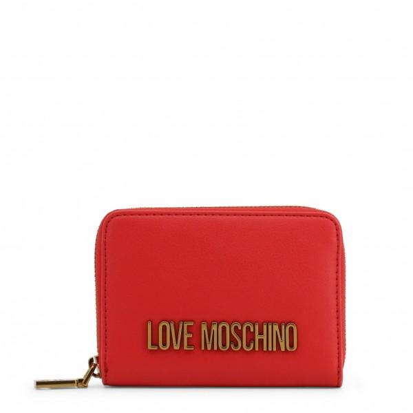 Dámská peněženka s logem Love Moschino červená
