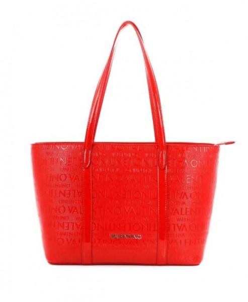 Lesklá dámská červená Valentino kabelka