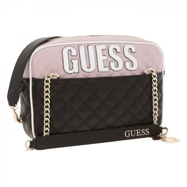 Stylová Guess dámská kabelka Brielle černá s logem