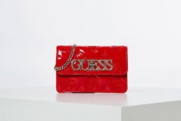 Dámská červená crossbody kabelka Guess