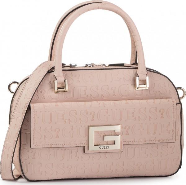 Růžová kabelka Guess do ruky