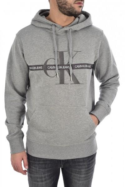 Pánská mikina Calvin Klein Jeans s kapucí šedá