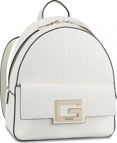Bílý stylový batoh s logem Guess