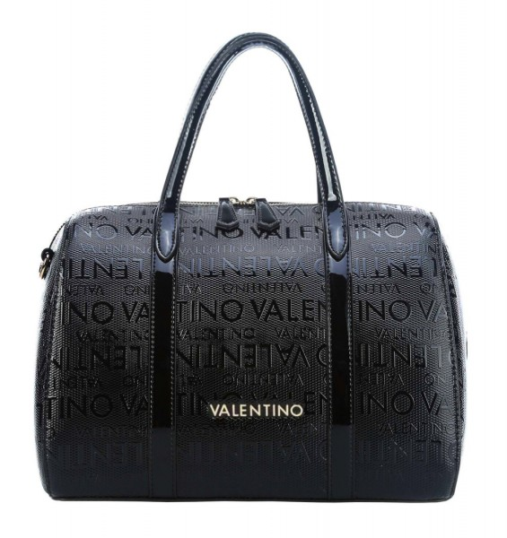 Serenity Satchel černá kabelka Valentino s logem