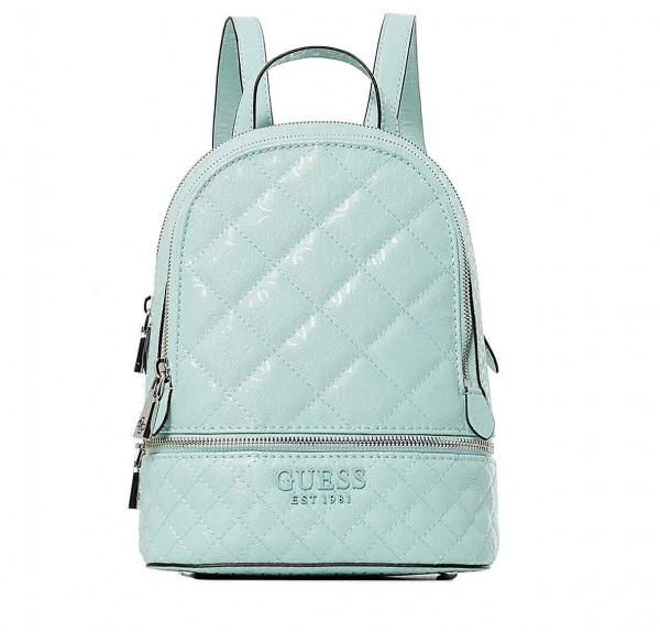 Tyrkysový dámský batoh s logem Guess