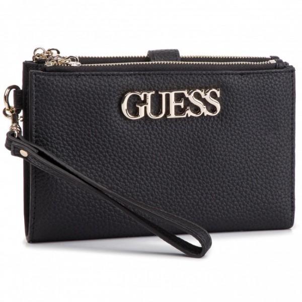 Peněženka s logem Guess černá