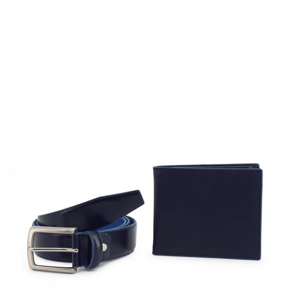 Dárkový set Modrý opasek s peněženkou Made in Italia