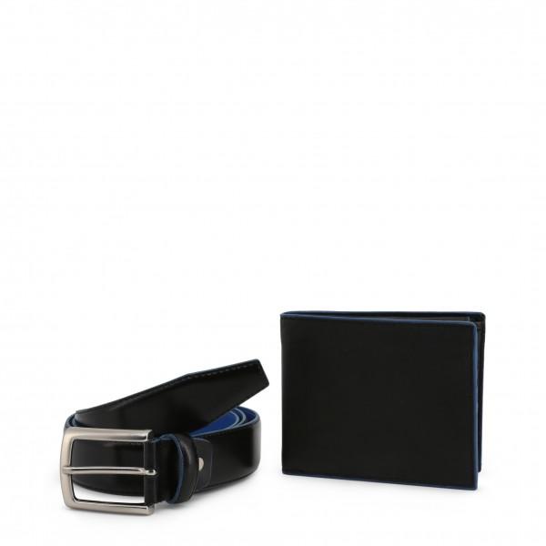 Dárková sada peněženka s opaskem černá Made in Italia