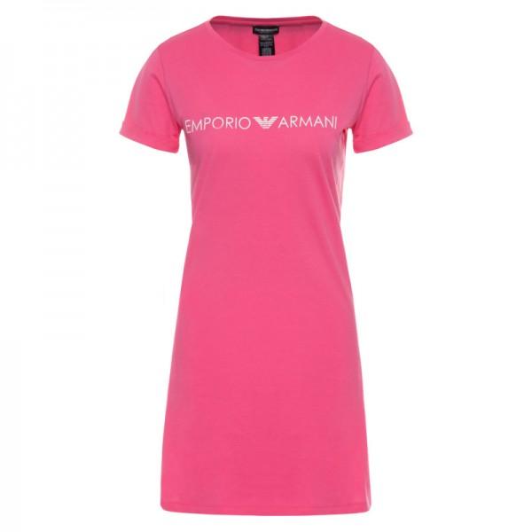 Krátké růžové dámské šaty Emporio Armani