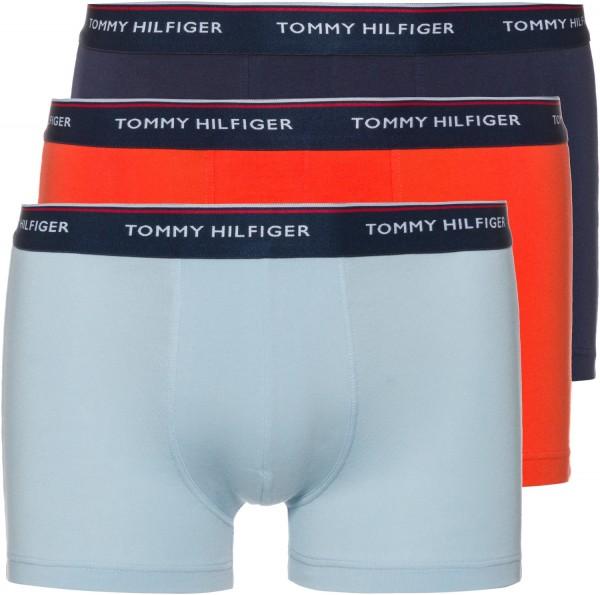 Pánské boxerky Tommy Hilfiger 3 PACK - červená, modrá (navy), šedá (multicolor)
