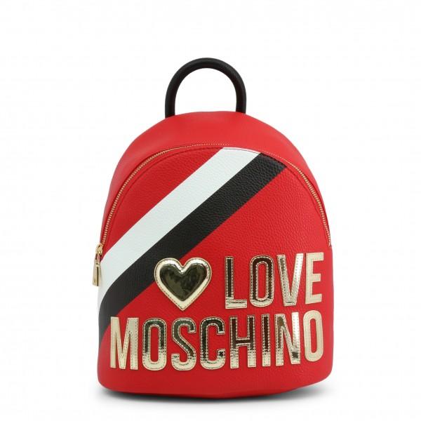 Červený dámský batoh Love Moschino s pruhem