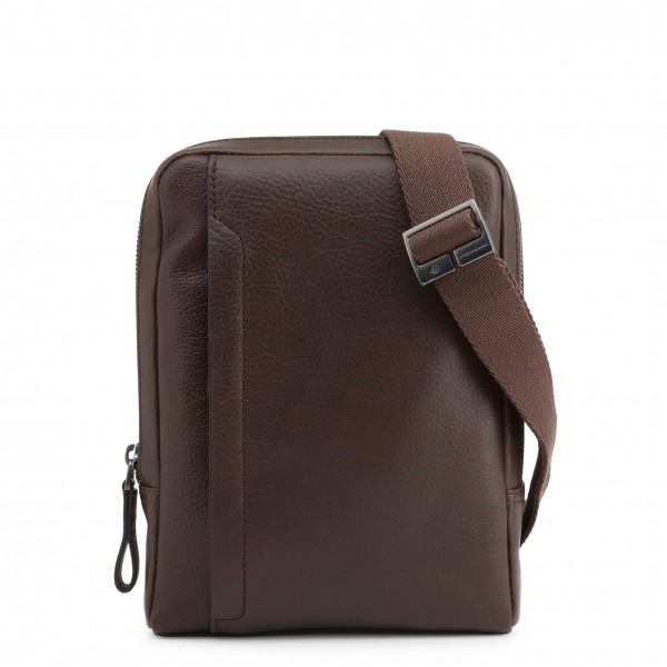 Hnědá kožená Piquadro taška přes rameno