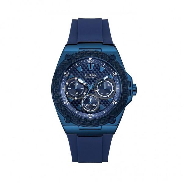 Modrá značkové hodinky Guess pánské