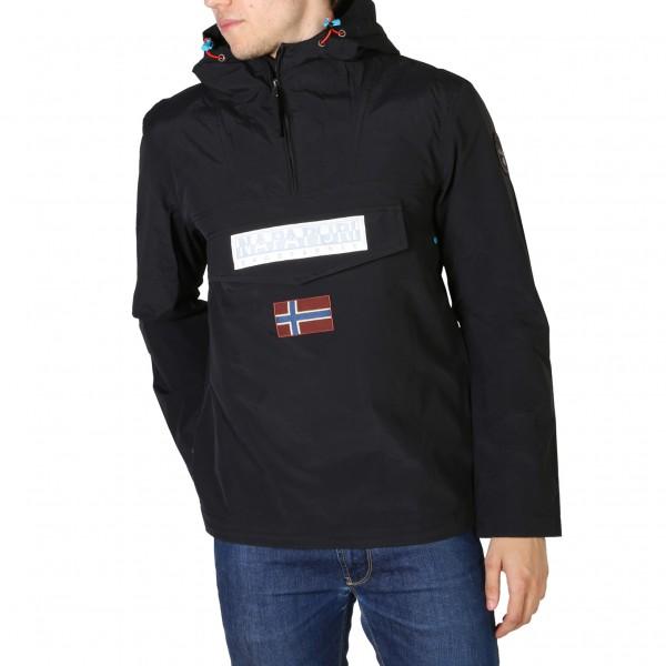Sportovní bunda Napapijri pánská černá s kapucí
