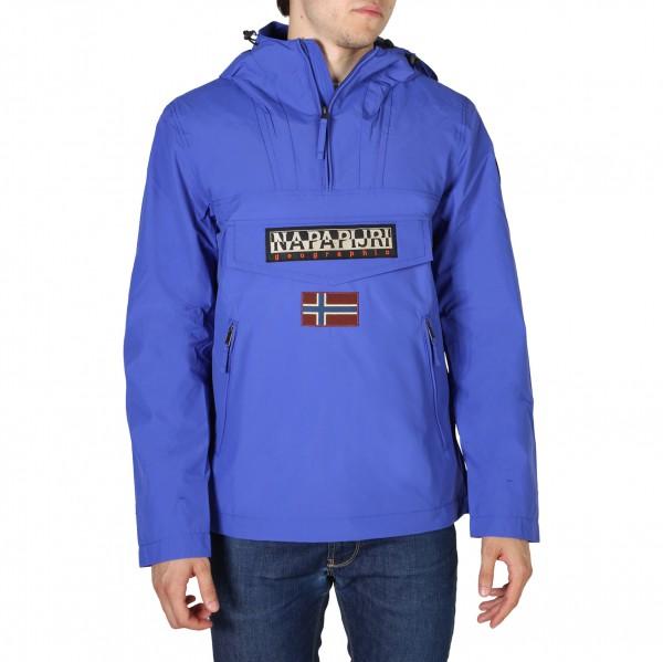 Pánská modrá bunda Napapijri s kapucí