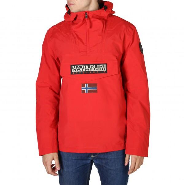 Červená bunda s kapucí Napapijri pánská