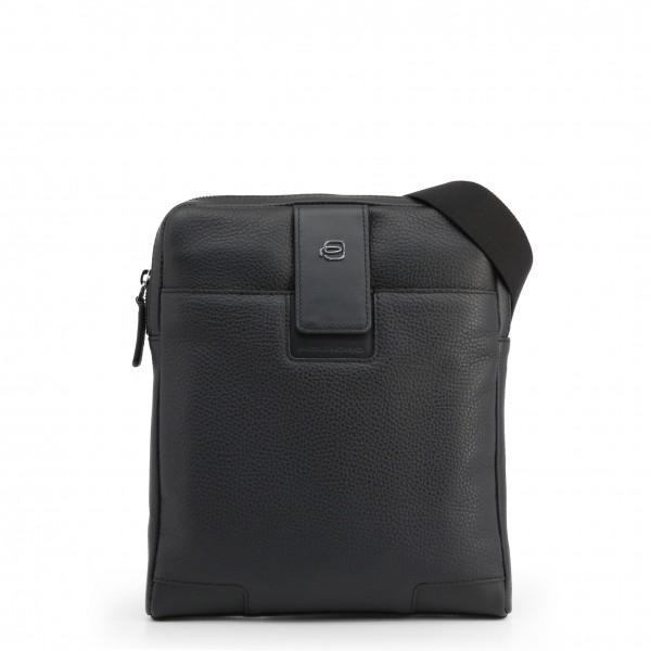 Moderní černá taška Piquadro pánská přes rameno