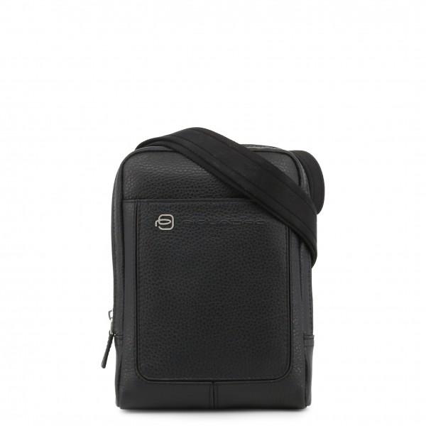 Černá kožená taška Piquadro na rameno pánská