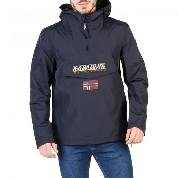 Pánská bunda Napapijri modrá s kapucí