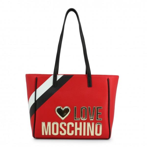 Červená kabelka s pruhem Love Moschino
