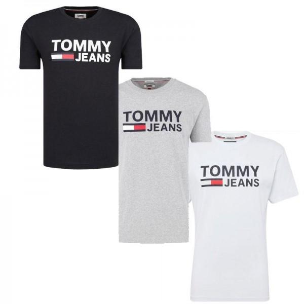 Pánská trička TOMMY JEANS 3 pack - bílá / černá / šedá