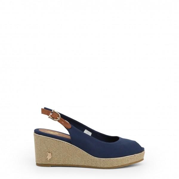 Modré boty U.S. Polo Assn. dámské na klínku