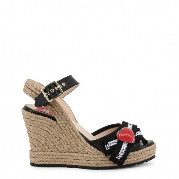 Černé boty na klínku Love Moschino dámské