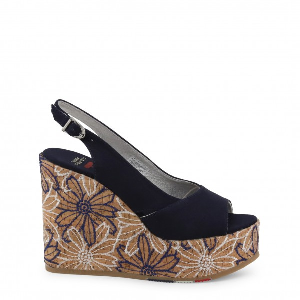 Modré U.S. Polo Assn. dámské boty na klínku