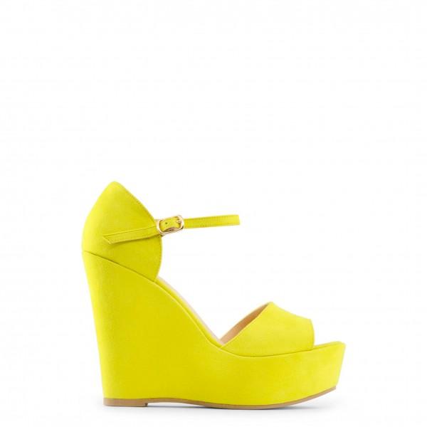 Žluté dámské boty Made in Italia na klínku