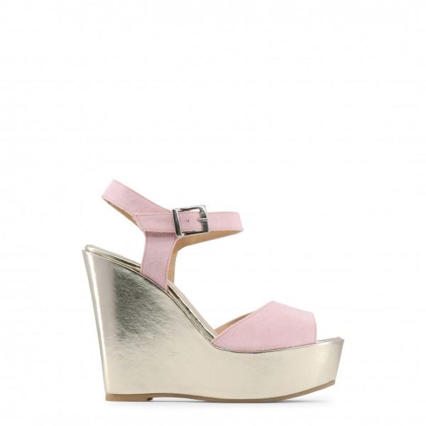 Dámské růžové boty na klínku Made in Italia