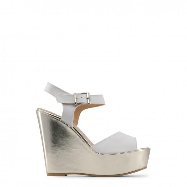 Bílé dámské boty Made in Italia na klínku