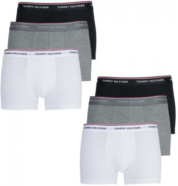 Pánské boxerky Tommy Hilfiger 6 pack - černá, bílá, šedá