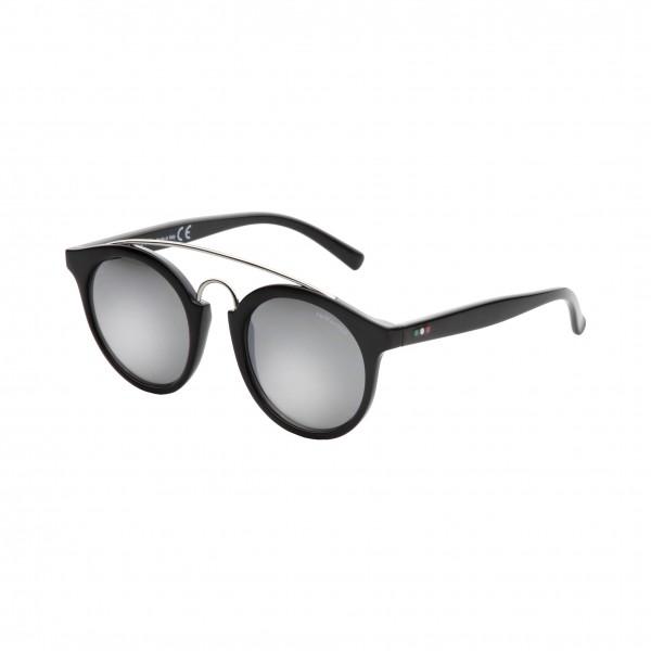 Černé unisex sluneční brýle Made in Italia